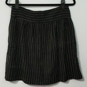 CLEARANCE Cute Susina pinstriped black skirt, M
